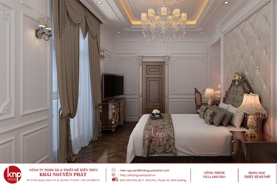 Phòng ngủ phong cách tân cổ điển sang trọng, đẳng cấp