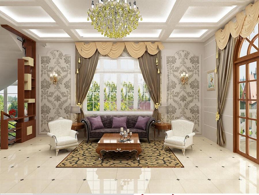 nội thất phòng bếp theo phong cách hoàng gia