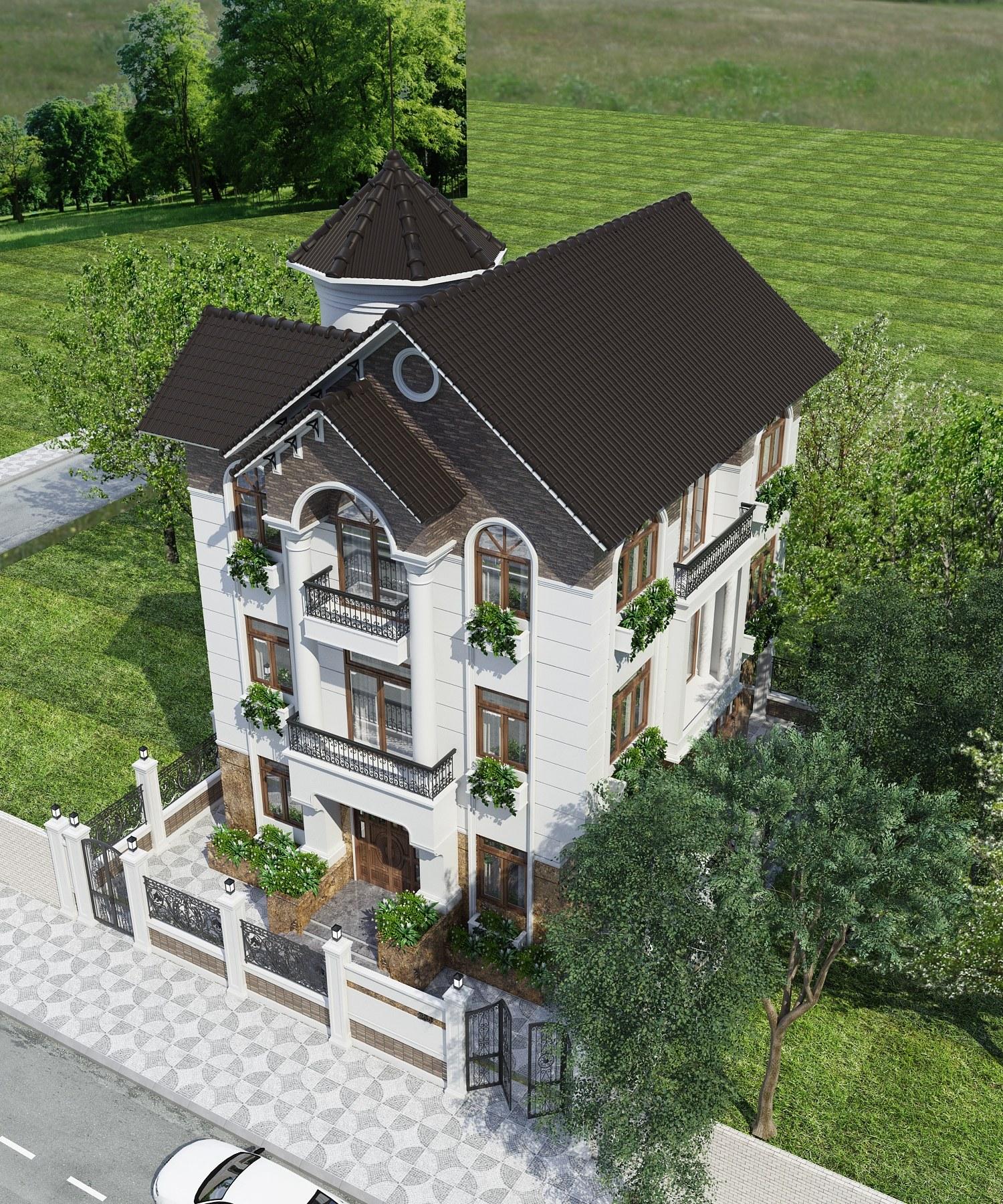 Căn biệt thự nổi bật với những nét đẹp của kiến trúc tân cổ