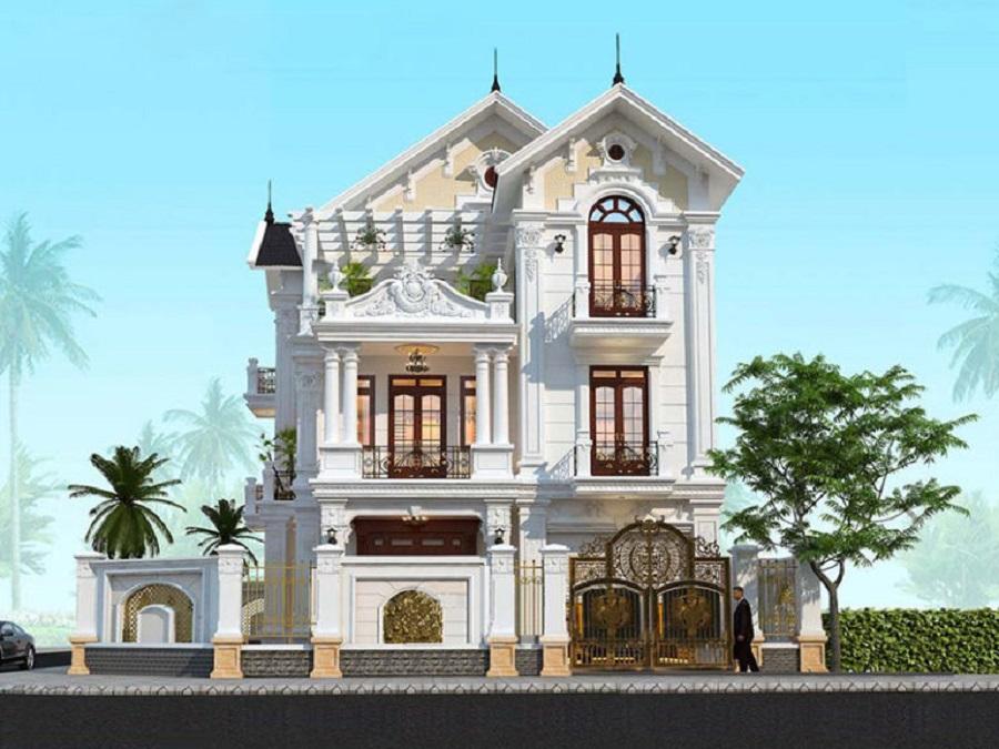 Mẫu biệt thự tầng mái thái đẹp tại Đồng Nai