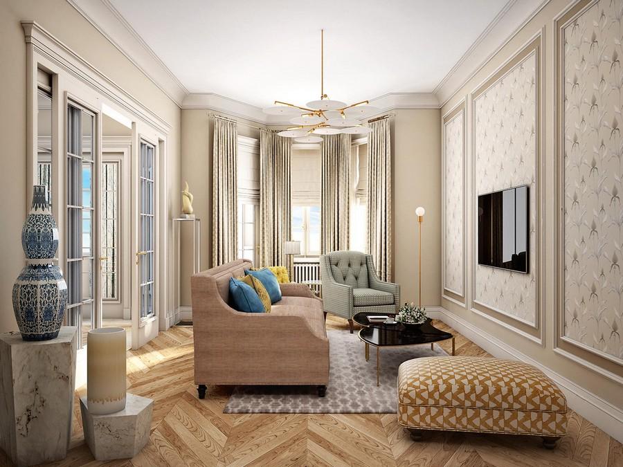 Một không gian sang chảnh phòng khách cổ điển