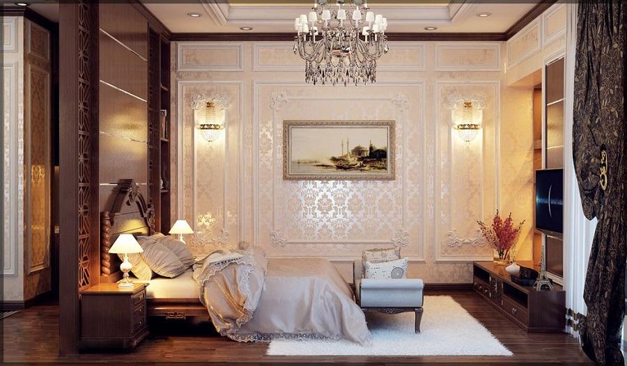 Phòng ngủ master cổ điển