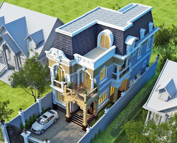 Kiến trúc cổ điển châu Âu với màu sắc nhã nhặn