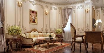 Sofa tân cổ điển vô cùng sang trọng, đắt đỏ