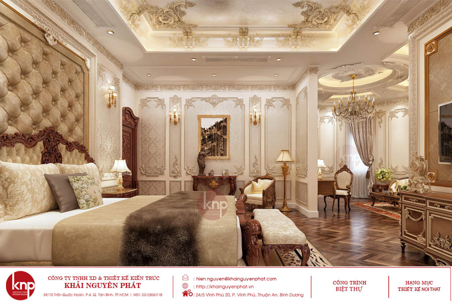 Giường ngủ tân cổ điển phong cách hoàng gia