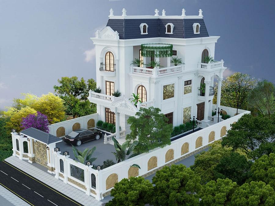 Biệt thự kiểu Pháp có sân vườn