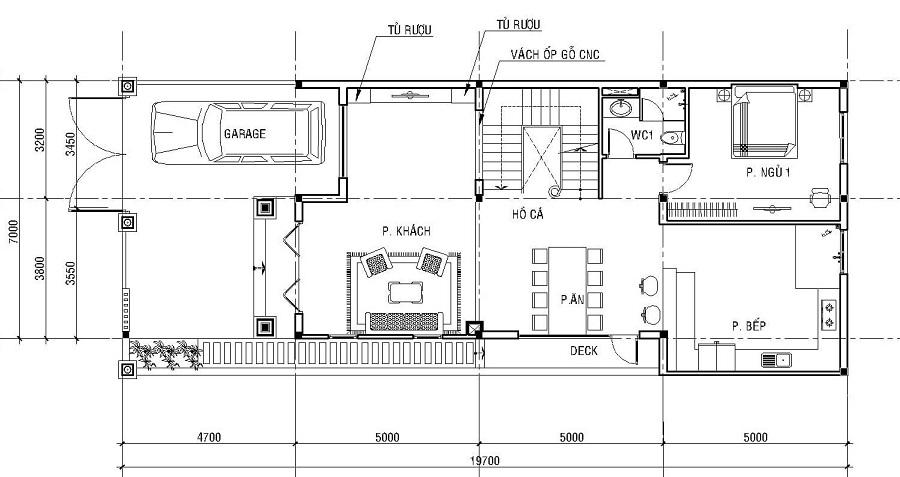 Bố trí công năng biệt thự kiểu Pháp 3 tầng