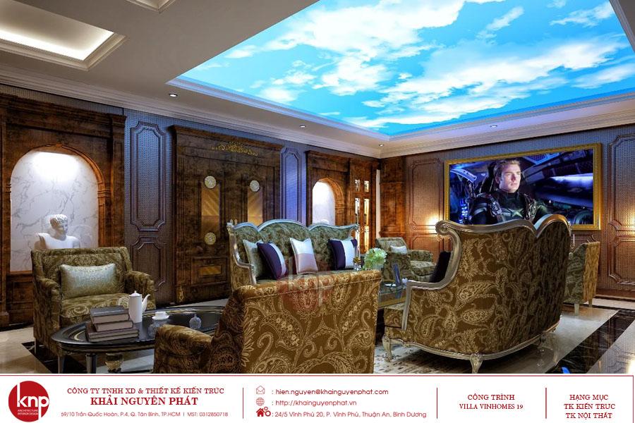 Bộ sofa phong cách tân cổ điển thể hiện sự xa hoa của gia chủ