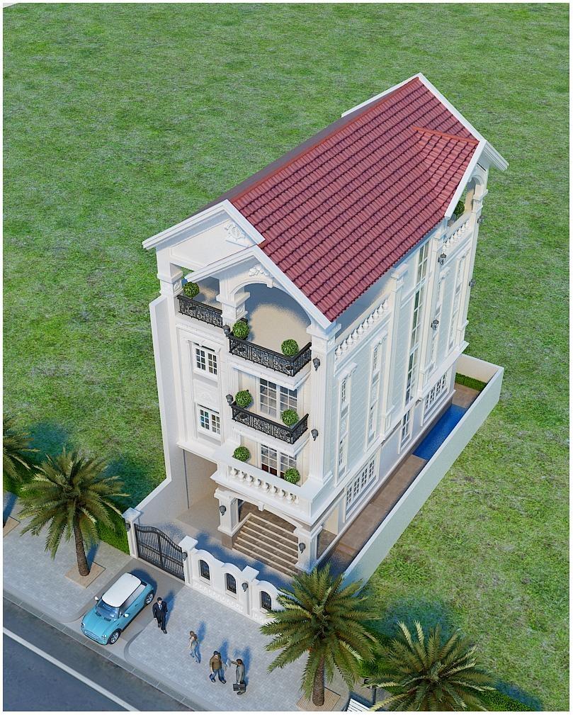 nhà tân cổ điển mặt tiền 7 mét