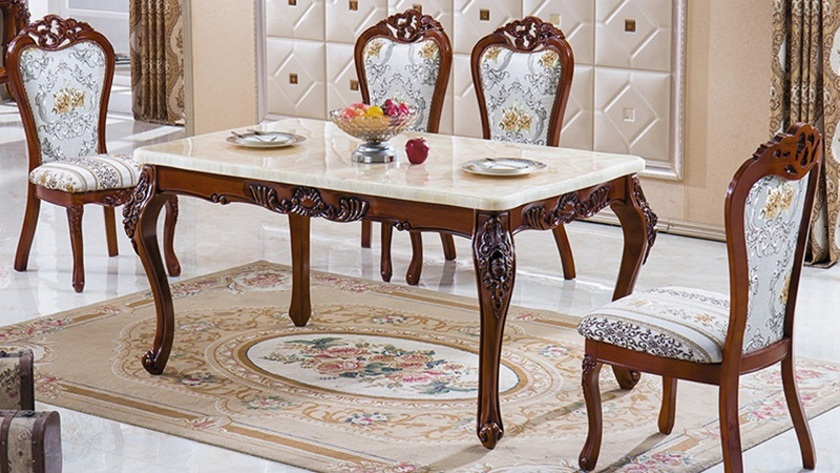 bàn ăn 8 ghế tân cổ điển