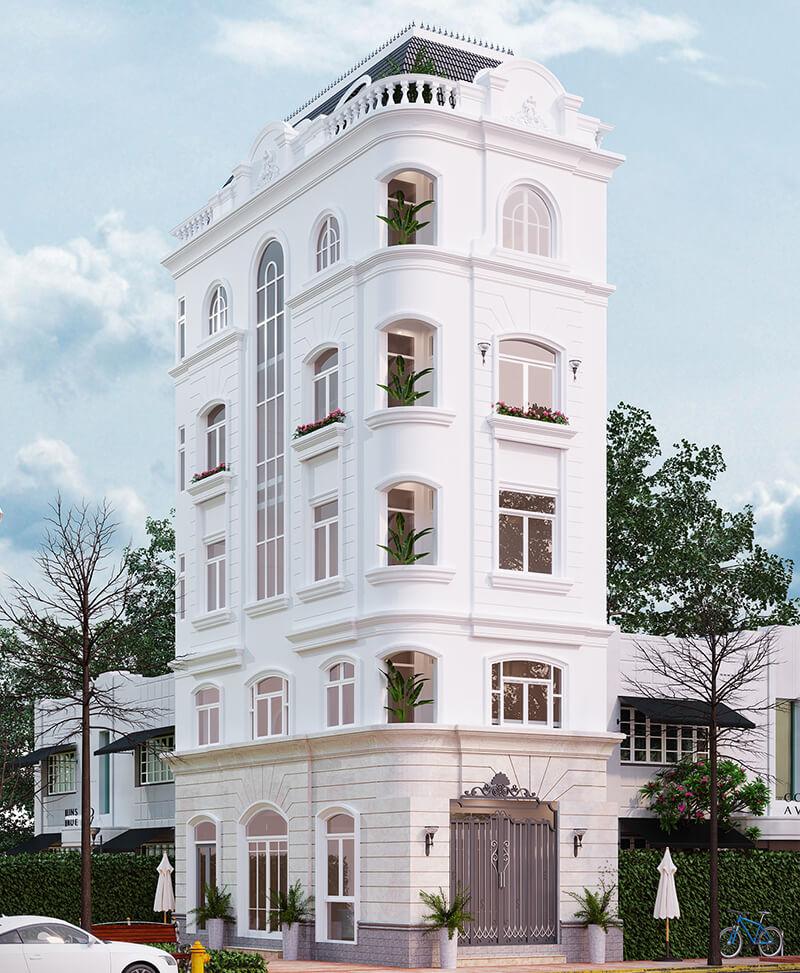 Mẫu biệt thự tân cổ điển 5 tầng