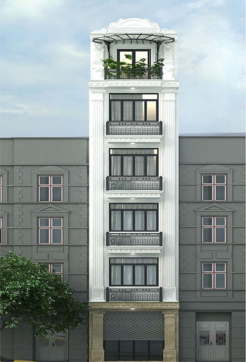 Nhà phố tân cổ điển 6 tầng