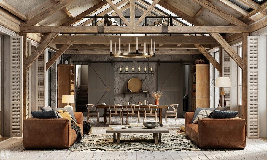 Tất tần tật về thiết kế nội thất phong cách Rustic